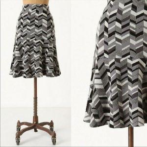 Anthropologie Moth Inlaid Trumpet Sweater Skirt